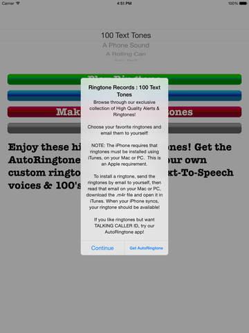 RingtoneRecords: 100 Text Tones screenshot 4