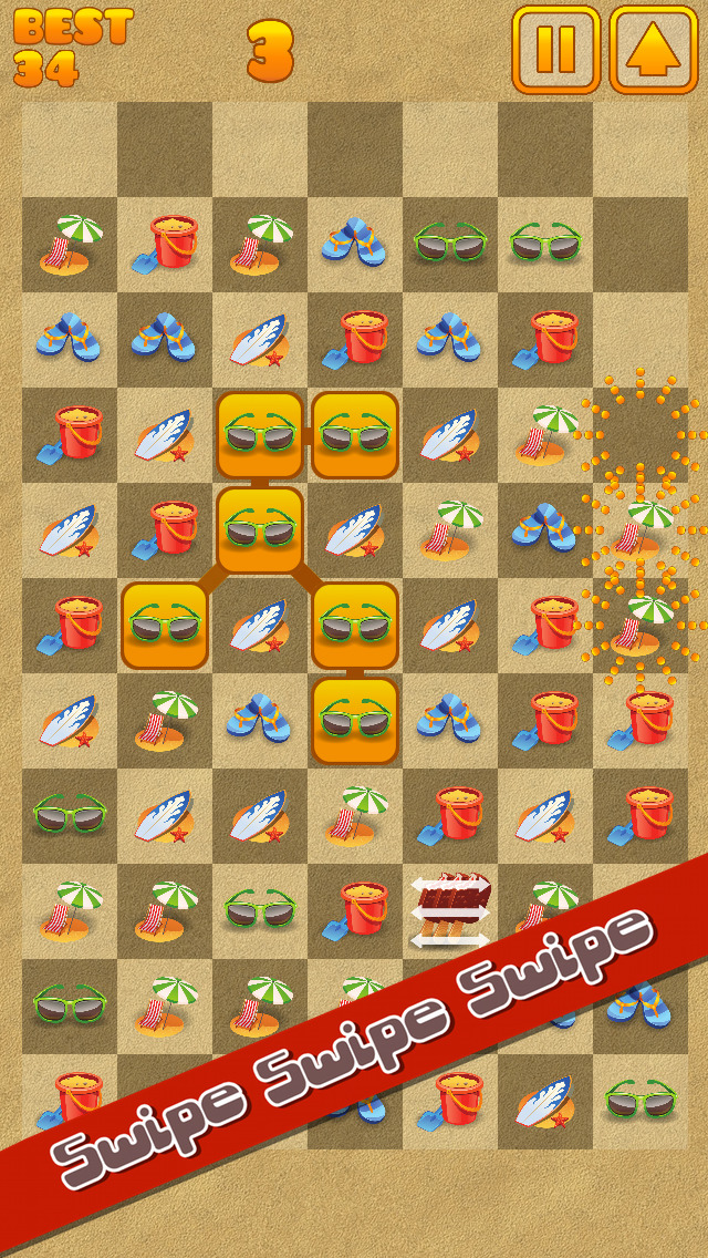 Beach Swipe Blitz screenshot 2