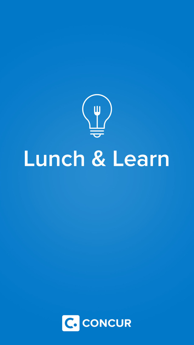 Concur Lunch & Learn screenshot 1