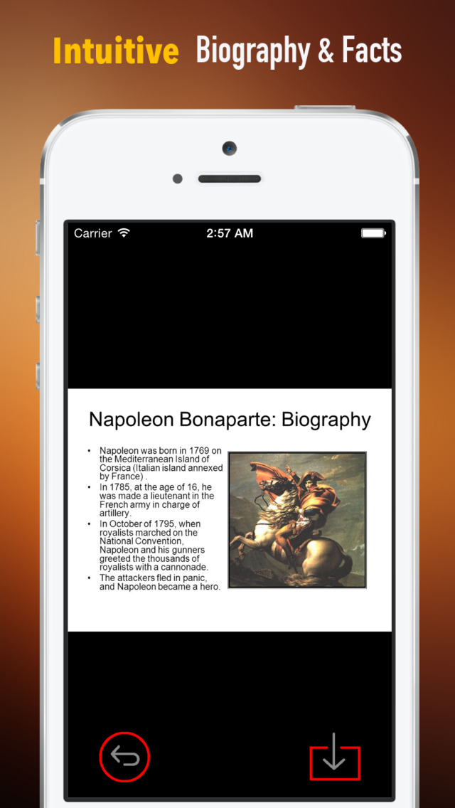 Napoleon Biography and Quotes: Life with Documentary screenshot 1