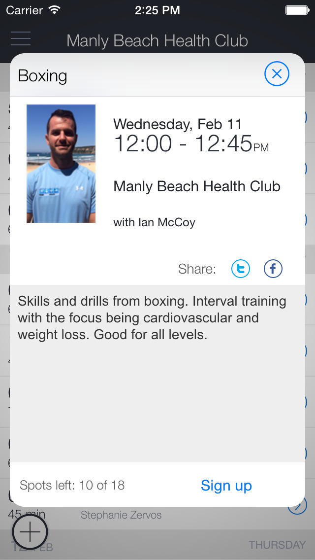 Manly Beach Health Club screenshot 2