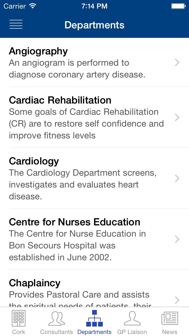 Bon Secours Hospitals, Ireland screenshot 4