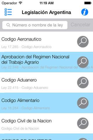 Legislación Argentina (Leyes y Códigos) - náhled