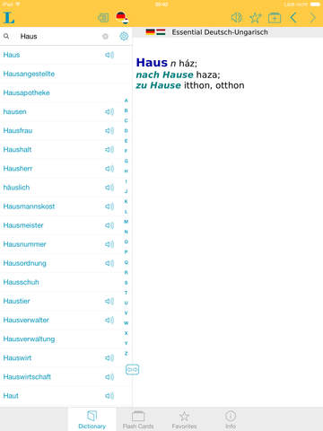 German Hungarian Dictionary screenshot 6