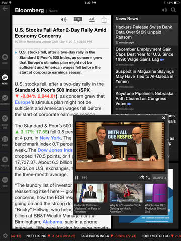 Bloomberg for iPad screenshot 2