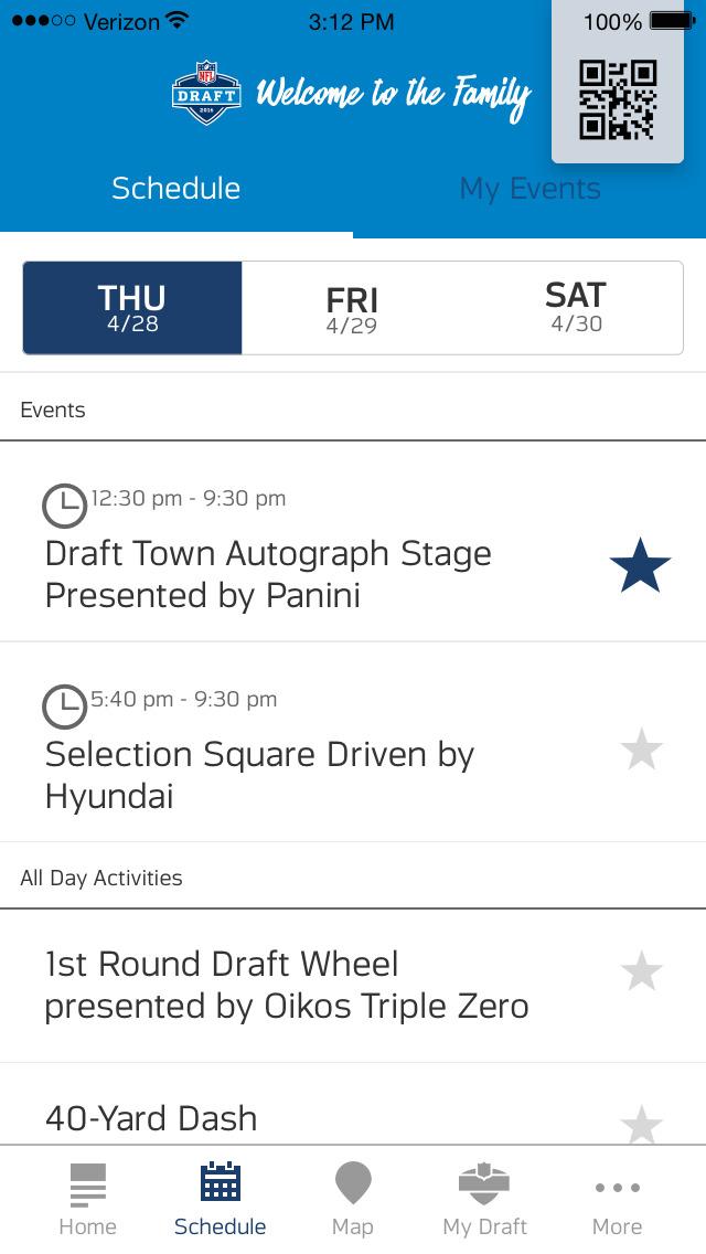NFL Draft - Fan Mobile Pass screenshot 1