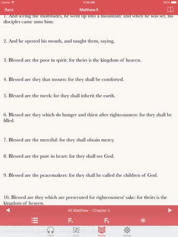 KJV Bible (Audio & Book) screenshot 9