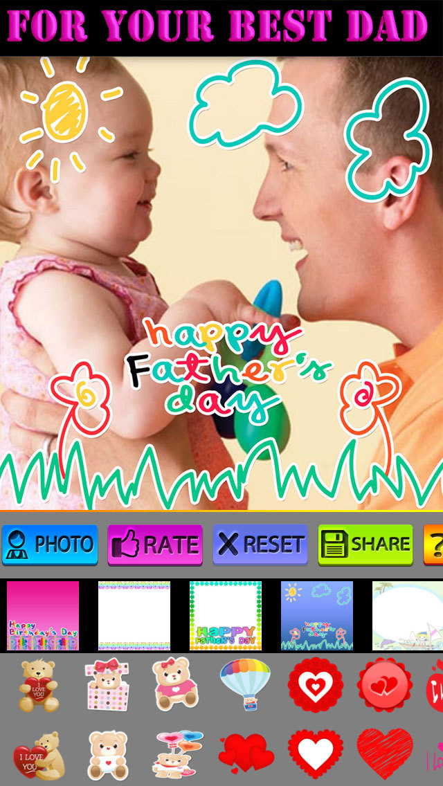Father's Day Frame and Sticker screenshot 5