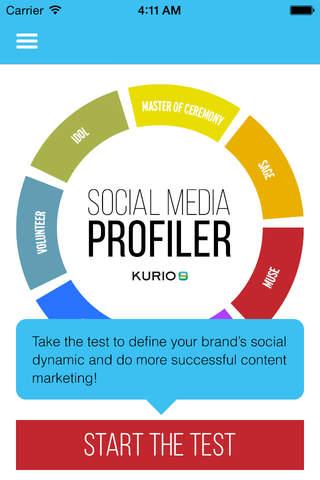 Social Media Profiler - náhled