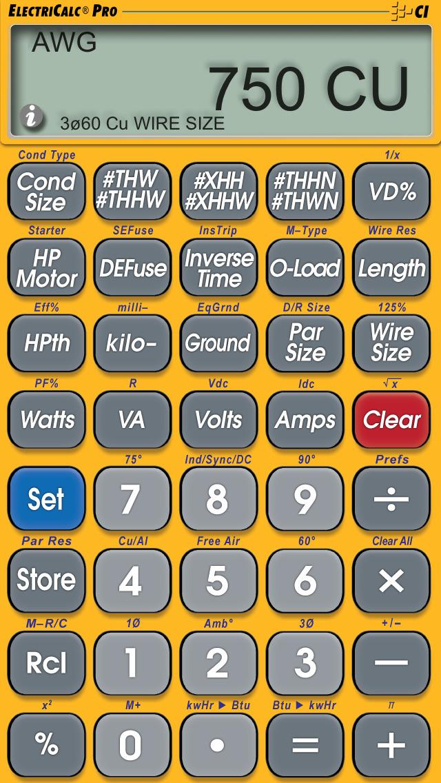 ElectriCalc Pro screenshot 2