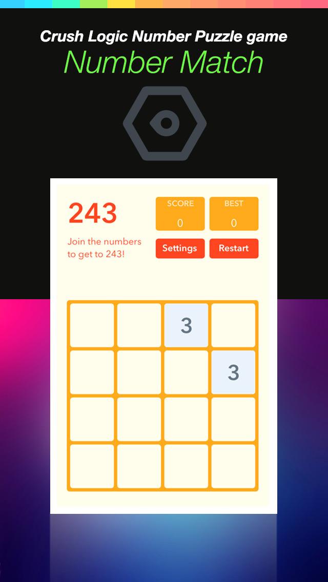 Number Match Hero Plus - Crush Logic Number Puzzle game screenshot 1