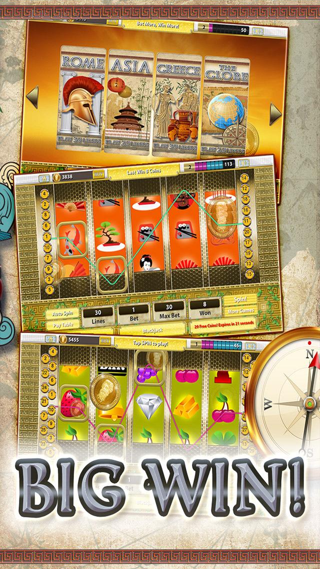 A Slots of Egypt vs Rome (Lucky Pharaohs Free Blackjack & Roulette Casino) - Fun Slot Machine Games screenshot 1