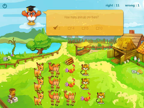 Animals 123 for count animals, primary maths, number game screenshot 3