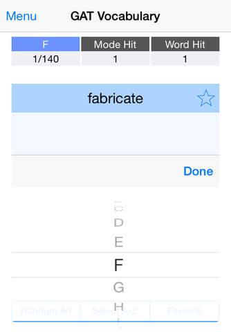 GAT Vocabulary Flashcards Lite - náhled