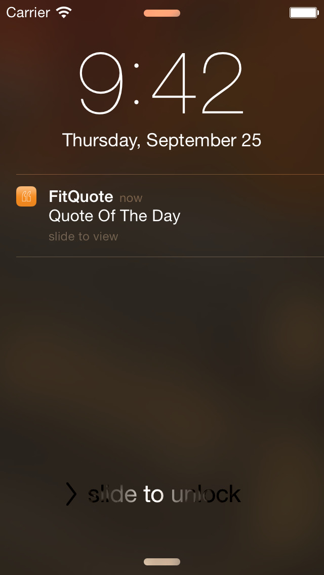 Daily Fitness Quotes - FitQuote screenshot 1