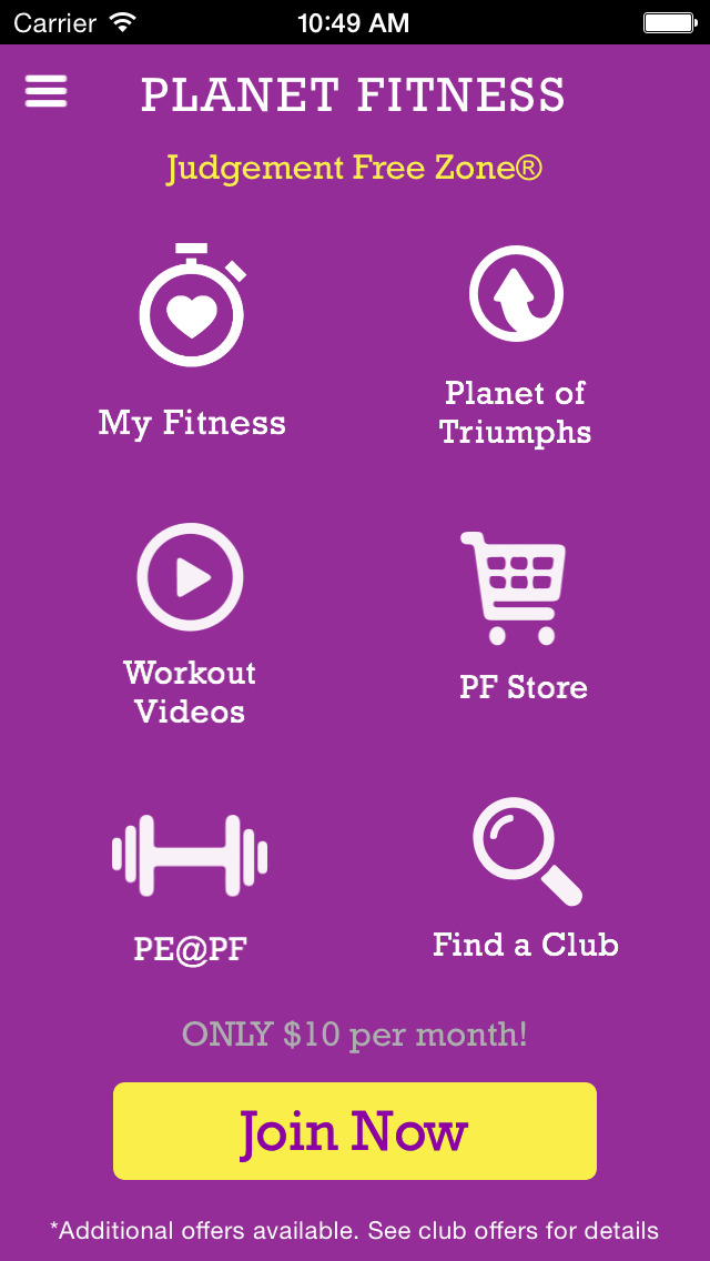 Planet Fitness Workouts screenshot 1
