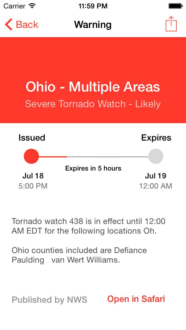 My Hurricane Tracker & Alerts screenshot 2