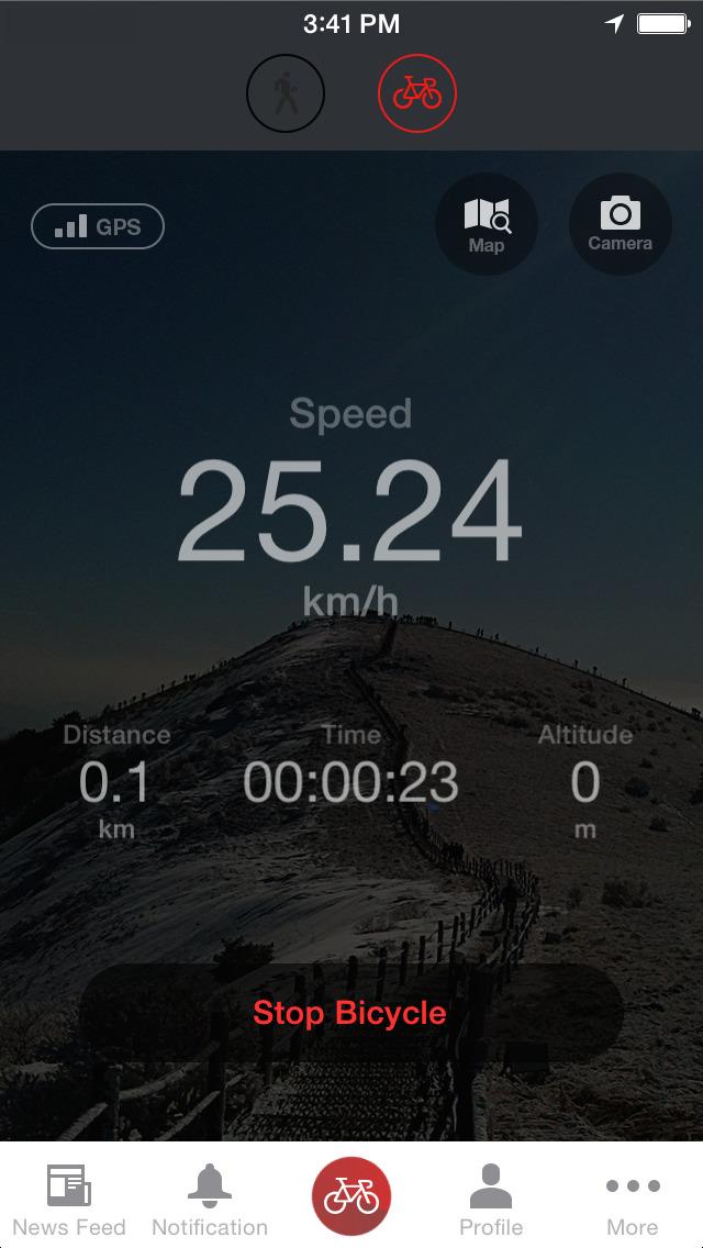 Pocket Runner GPS - Run Cycle screenshot 1