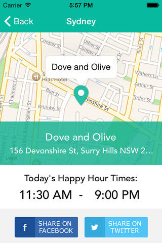 HappyTimes - The Happy Hour Finder - náhled