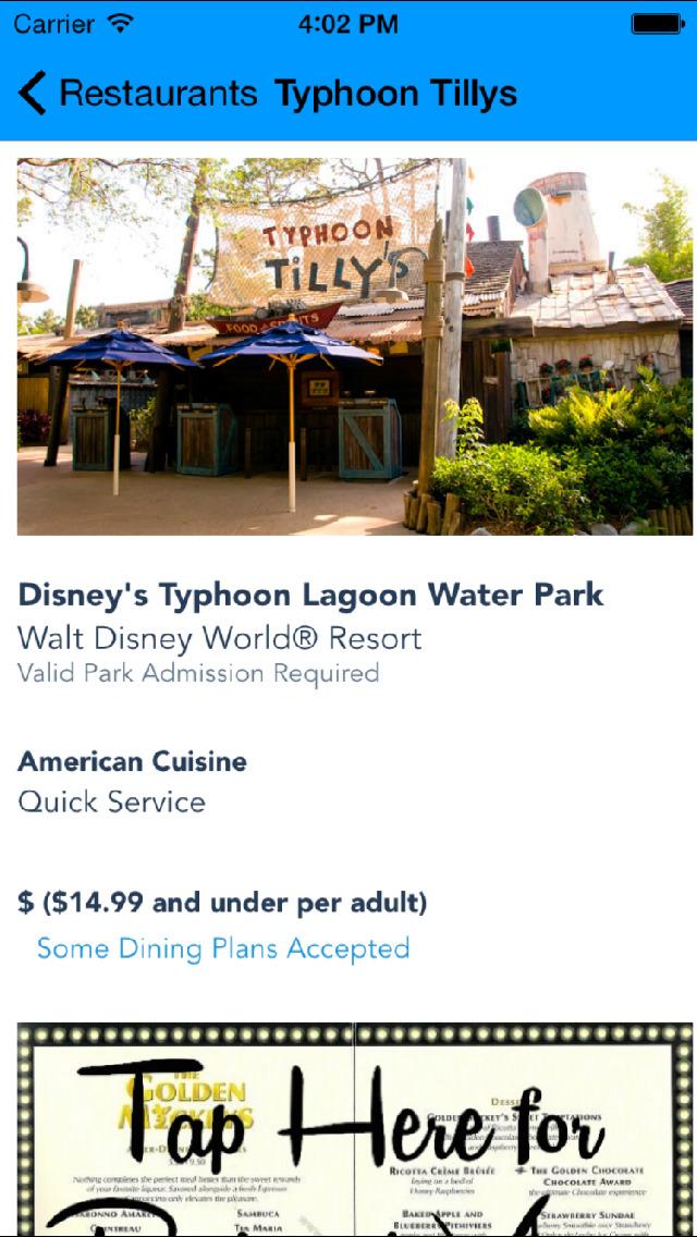 Disney World Restaurant Guide screenshot 4