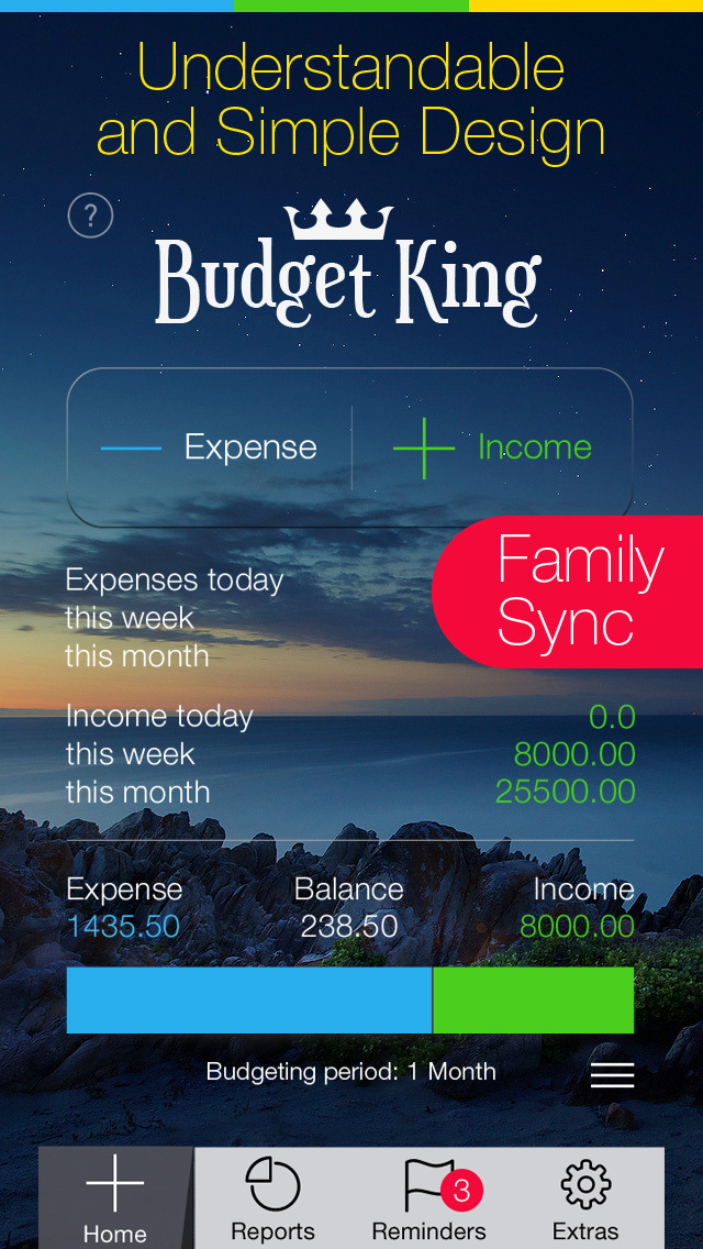 Budget King - Personal Finance & Money Management for iPhone screenshot 1
