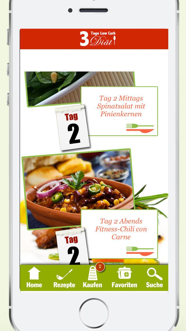 3 Tage Low Carb Diät - Abnehmen übers Wochenende, schlank ohne Kohlenhydrate screenshot 3