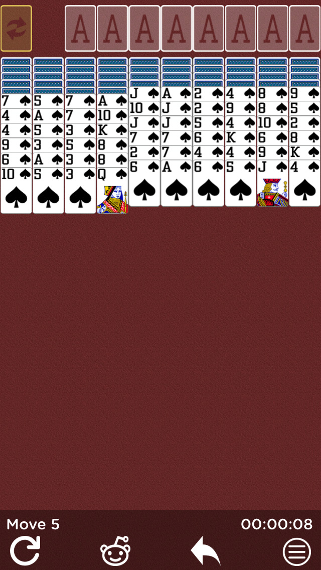 Spider Solitaire ◊ screenshot 1