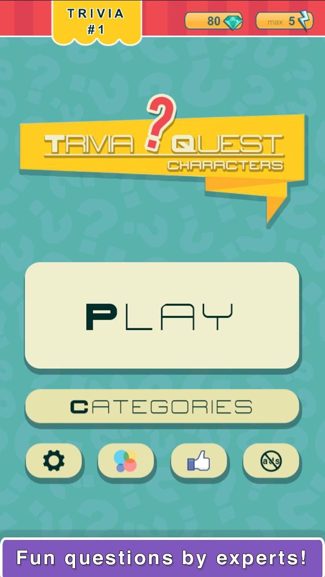 Trivia Quest™ Characters - trivia questions screenshot 3