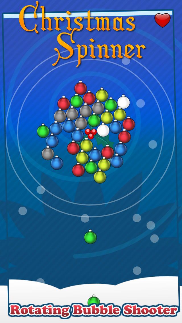 Christmas Spinner - Free Rotating Bubble-Shooter screenshot 1