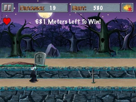 Witch vs Green Bubble Head Zombies screenshot 2