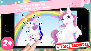Free Kids Ponies Puzzle Teach me Tracing & Counting - Learn about pink ponies, cute fairies and princesses screenshot 1