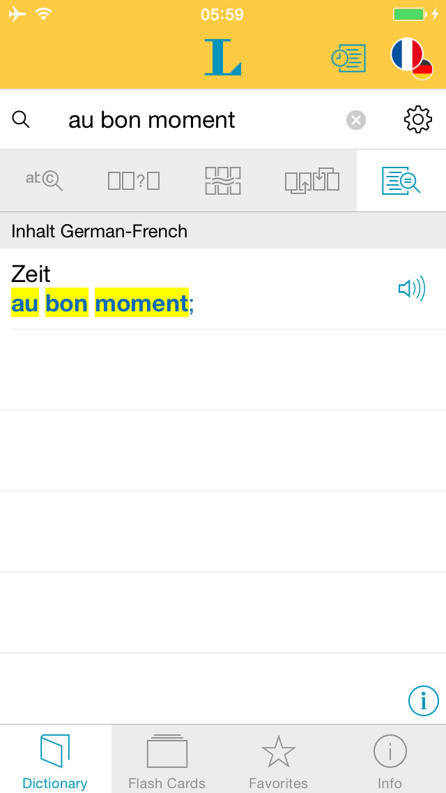 Big German French Dictionary screenshot 2