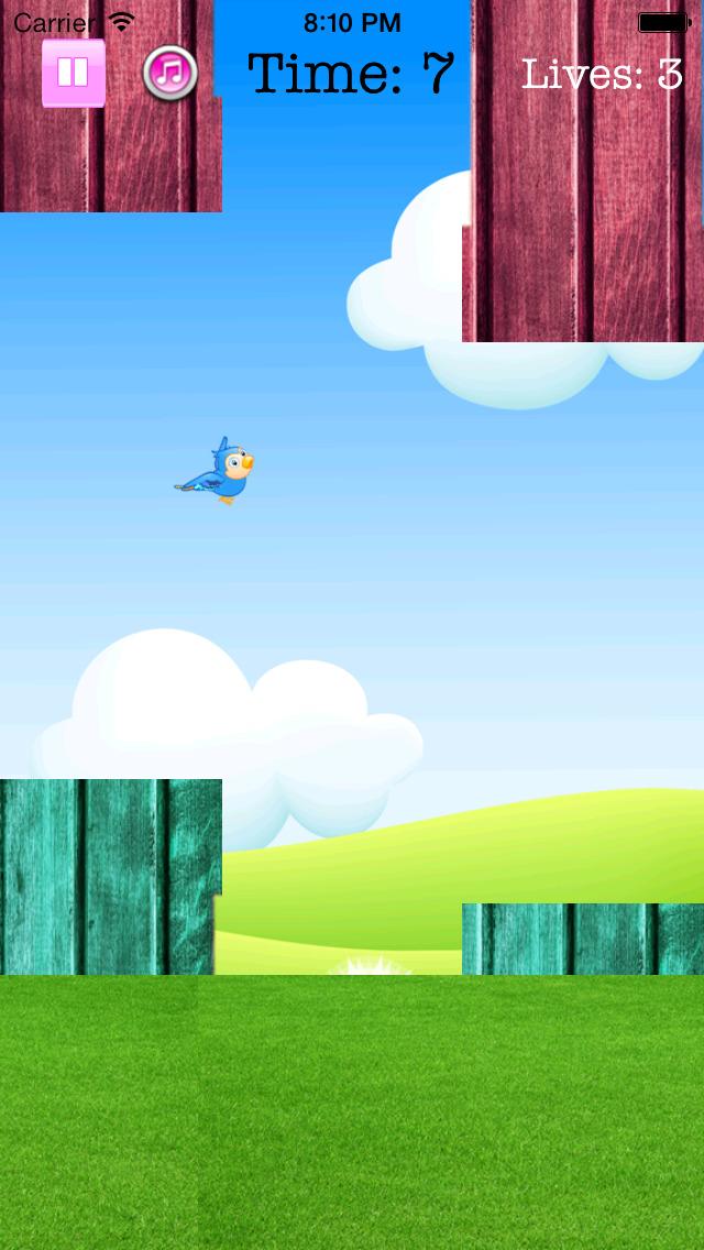 Fly Birdie - One touch branch jump screenshot 2
