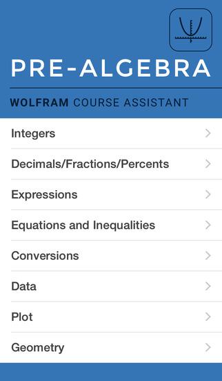 Wolfram Pre-Algebra Course Assistant screenshot 1