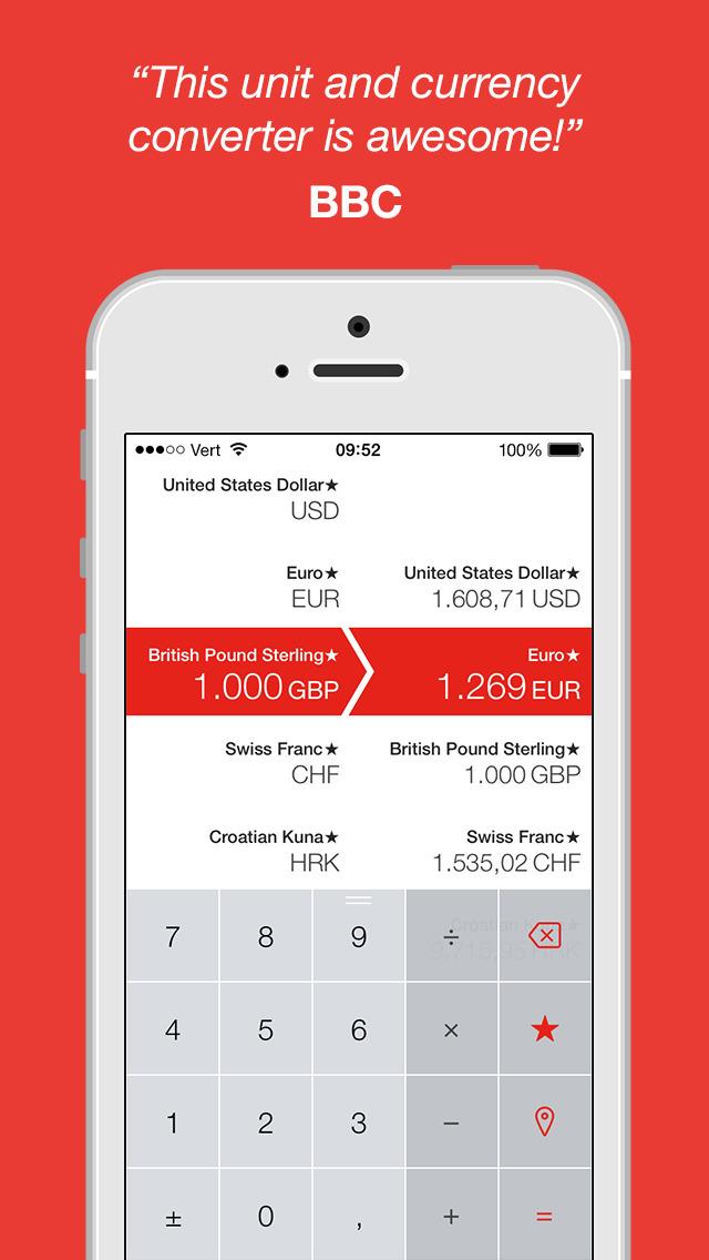 Vert - Unit and Currency Converter screenshot 1