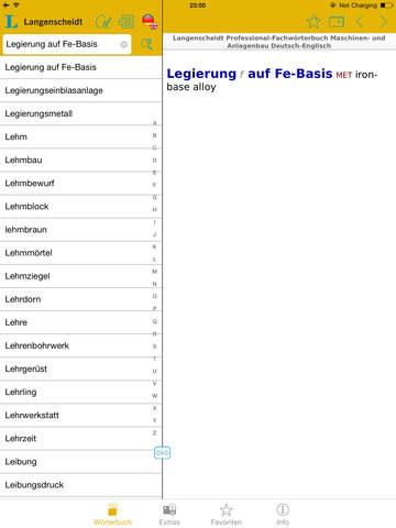 Maschinen- und Anlagenbau Englisch<->Deutsch Fachwörterbuch Professional screenshot 10