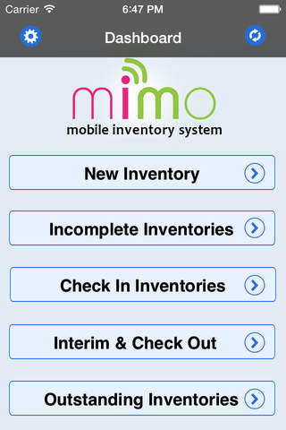 MIMO Mobile Inventory System - náhled
