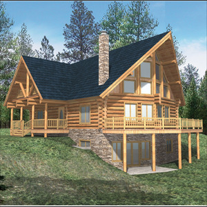 Log Style - House Plans