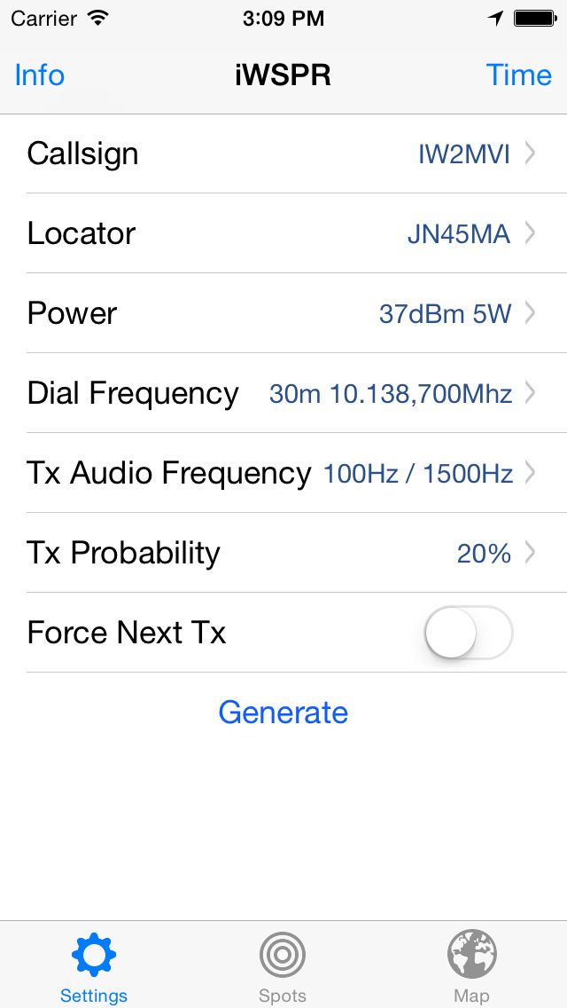 iWSPR TX - QRP Hamradio screenshot 4