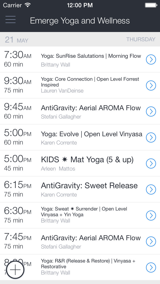 Emerge Yoga & Wellness screenshot 1