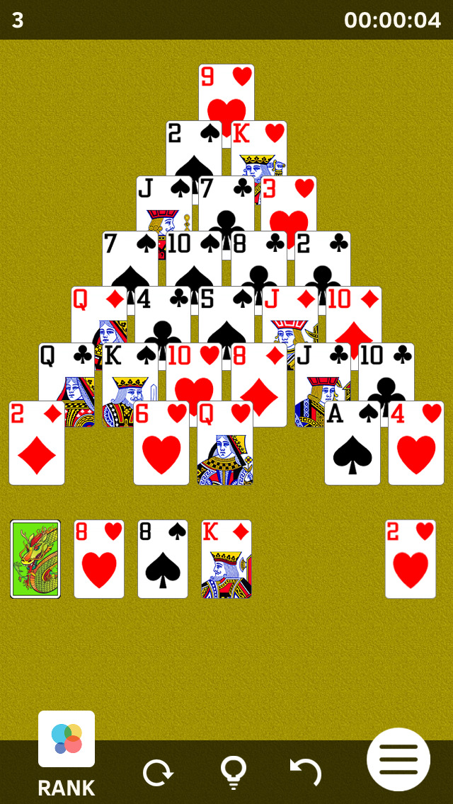 Pyramid Solitaires screenshot 2