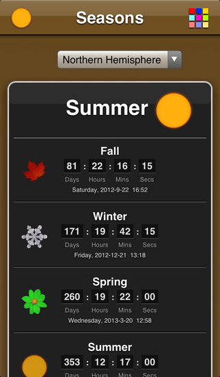 Seasons App screenshot 2