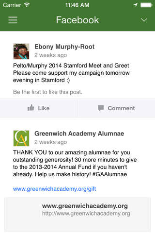 Greenwich Academy Alumnae inTouch - náhled