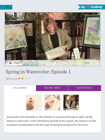 Paint a Spring Landscape in Watercolor screenshot 9