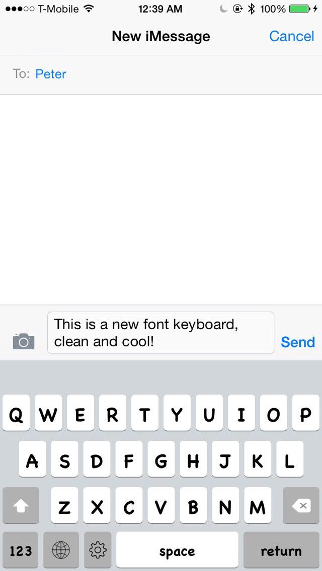 Keyboard of Chalkboard SE Font: Artistic Style Keys for iOS 8 screenshot 1