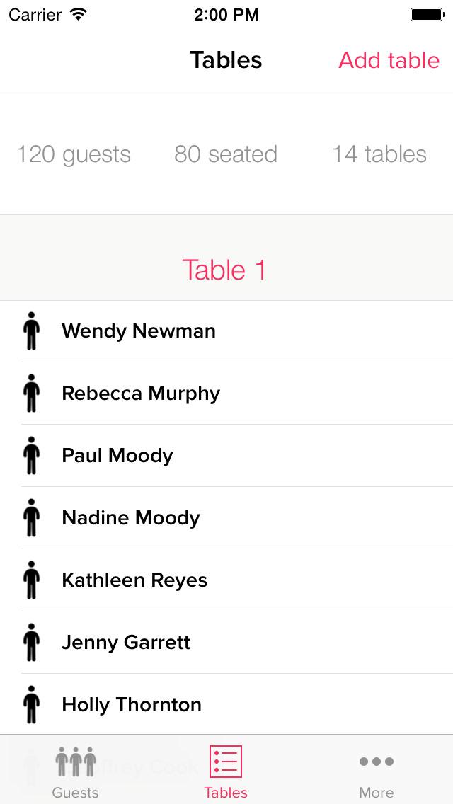 My Wedding Table Planner screenshot 2