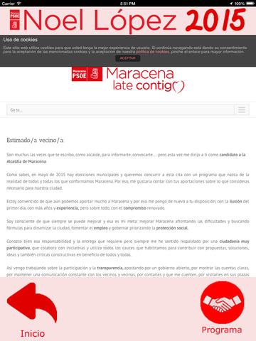 Noel2015 - Noel López - candidatura del Partido Socialista a la alcaldía de Maracena (Granada, España) screenshot 10