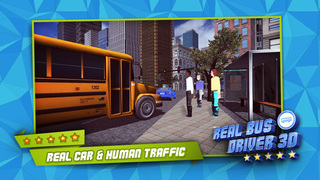 3D Real Bus Driver PRO - Realistic Car Driving and City Traffic Simulator screenshot 2