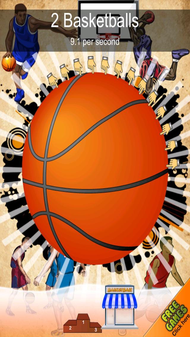 A Basketball Dribble Clicking Fun-fun Click Tap Clicker Games Free screenshot 1