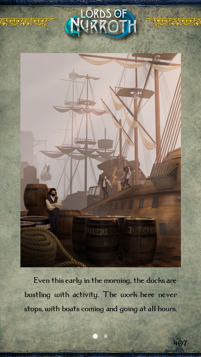 Gamebook Adventures 10: Lords of Nurroth screenshot 1